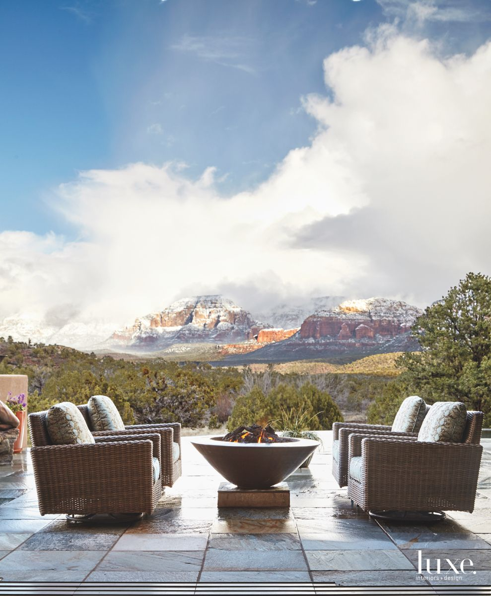 Stunning Outdoor Terrace with Arizona Mountain Views and Firepit
