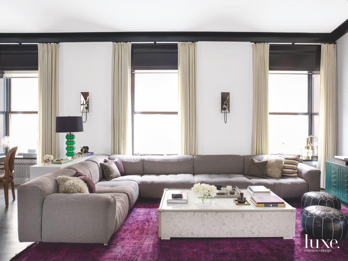 Vintage Purple Rug in the Great Room
