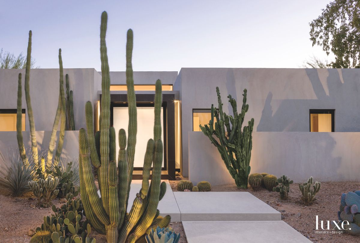 Concrete Contemporary Arizona Exterior with Cacti