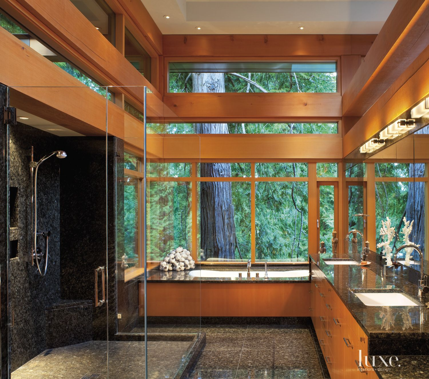 Contemporary Neutral Bathroom with Double Sinks