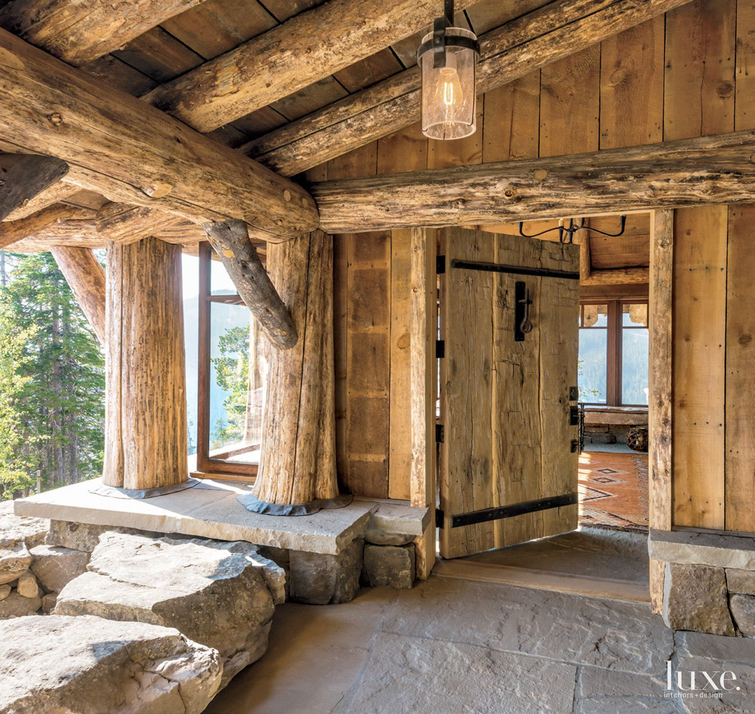 Mountain Neutral Entry with Lodgepole Pines
