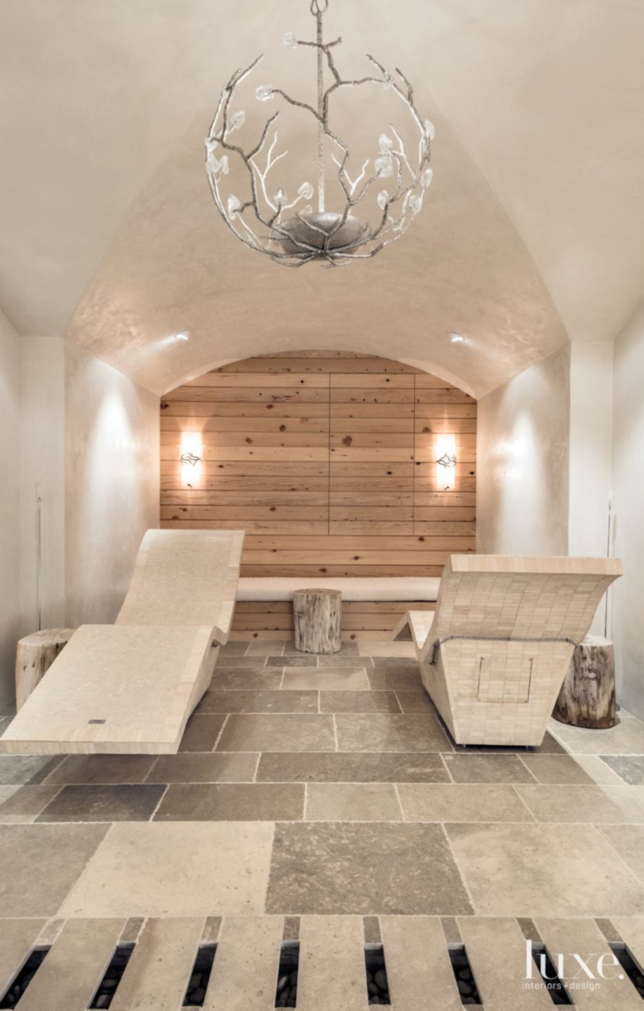 Mountain Neutral Spa with Heated Loungers