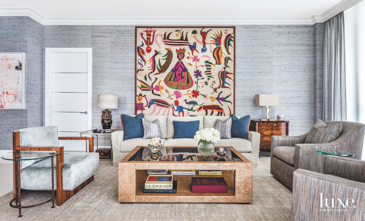 Otomi Tapestry in the Living Room