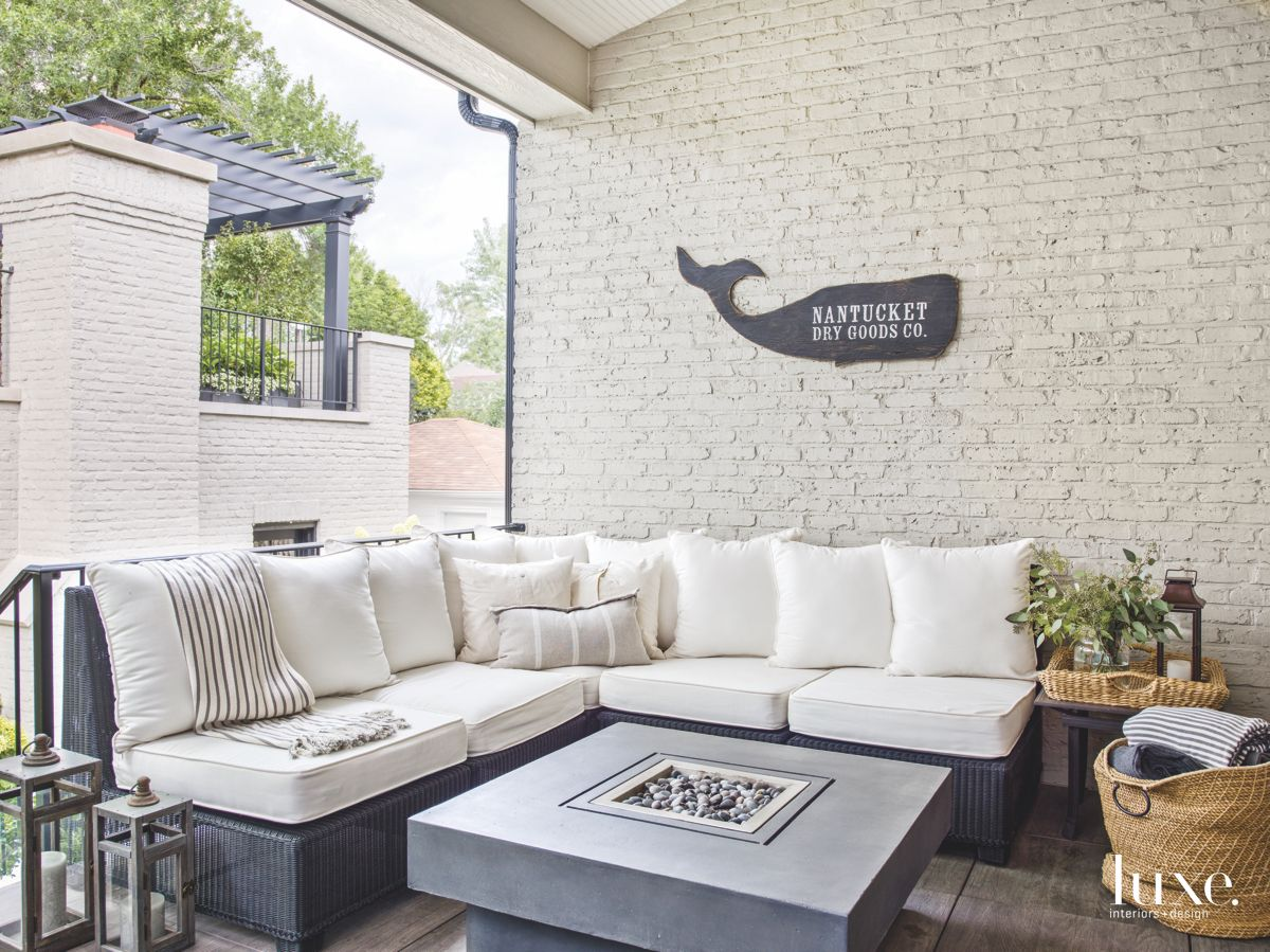 Outdoor Patio with Firepit and Whale
