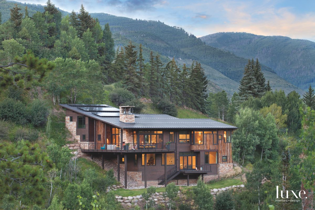 Mountain Side Colorado Home with Solar Panel Roof