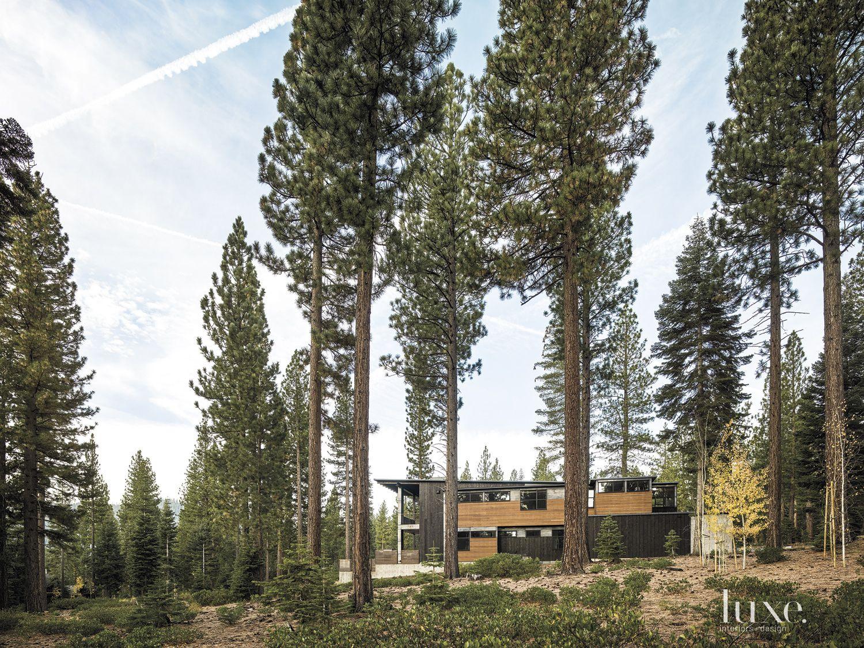 Contemporary Neutral Exterior with Cedar Paneling