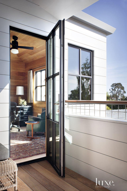 Contemporary Steel-And-Glass Deck Door