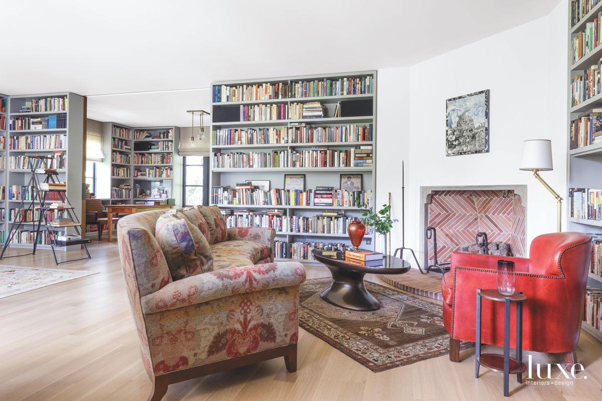 Custom Bookshelf Backdrop for Library