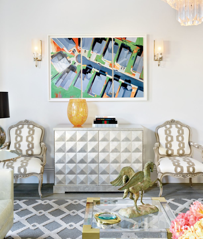 Eclectic Multi-Colored Living Area Vignette