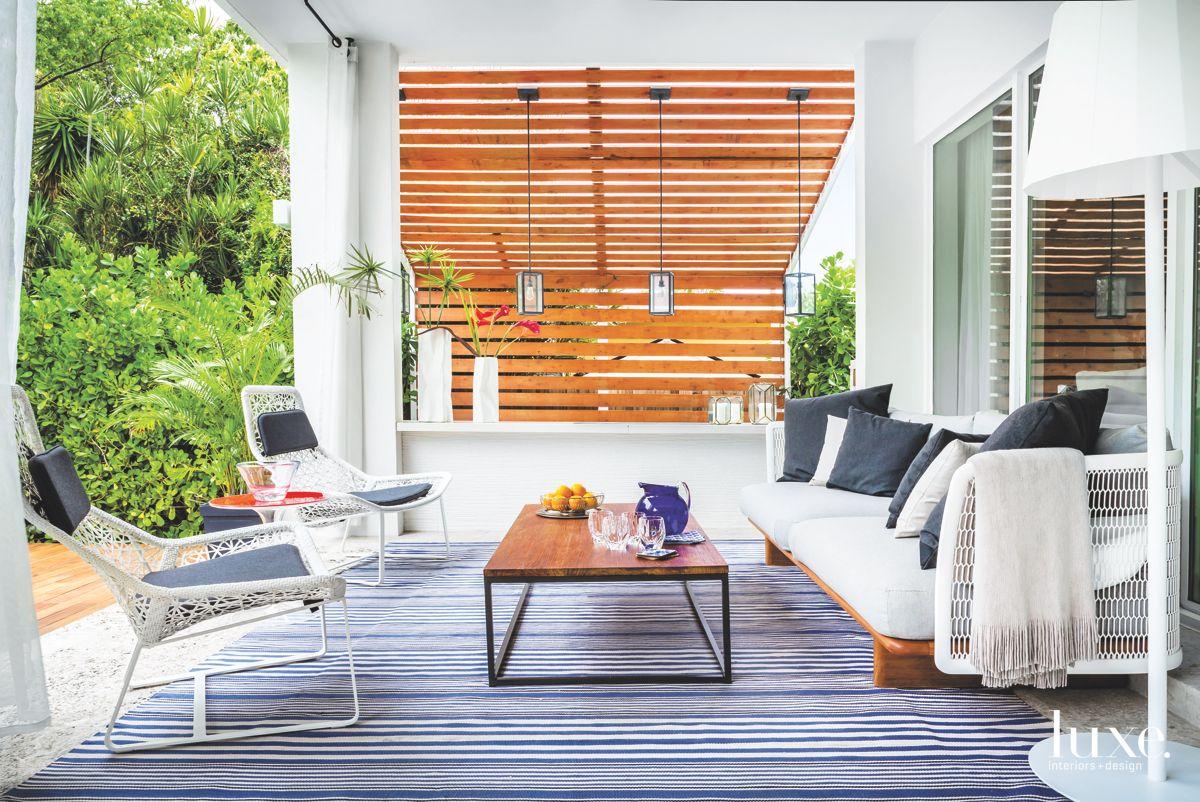 Breezy Miami Loggia with Open-Weave Furniture