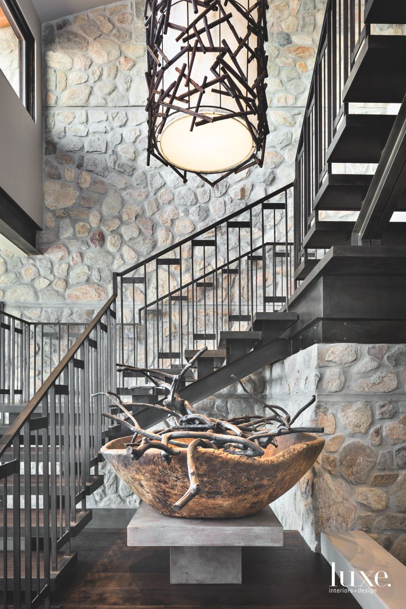 Distinctive Steel Staircase with Wooden Accessories