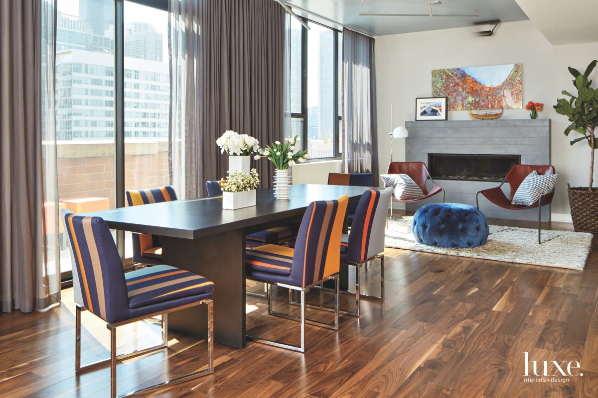 Open Dining Area Injected with Colorful Chairs