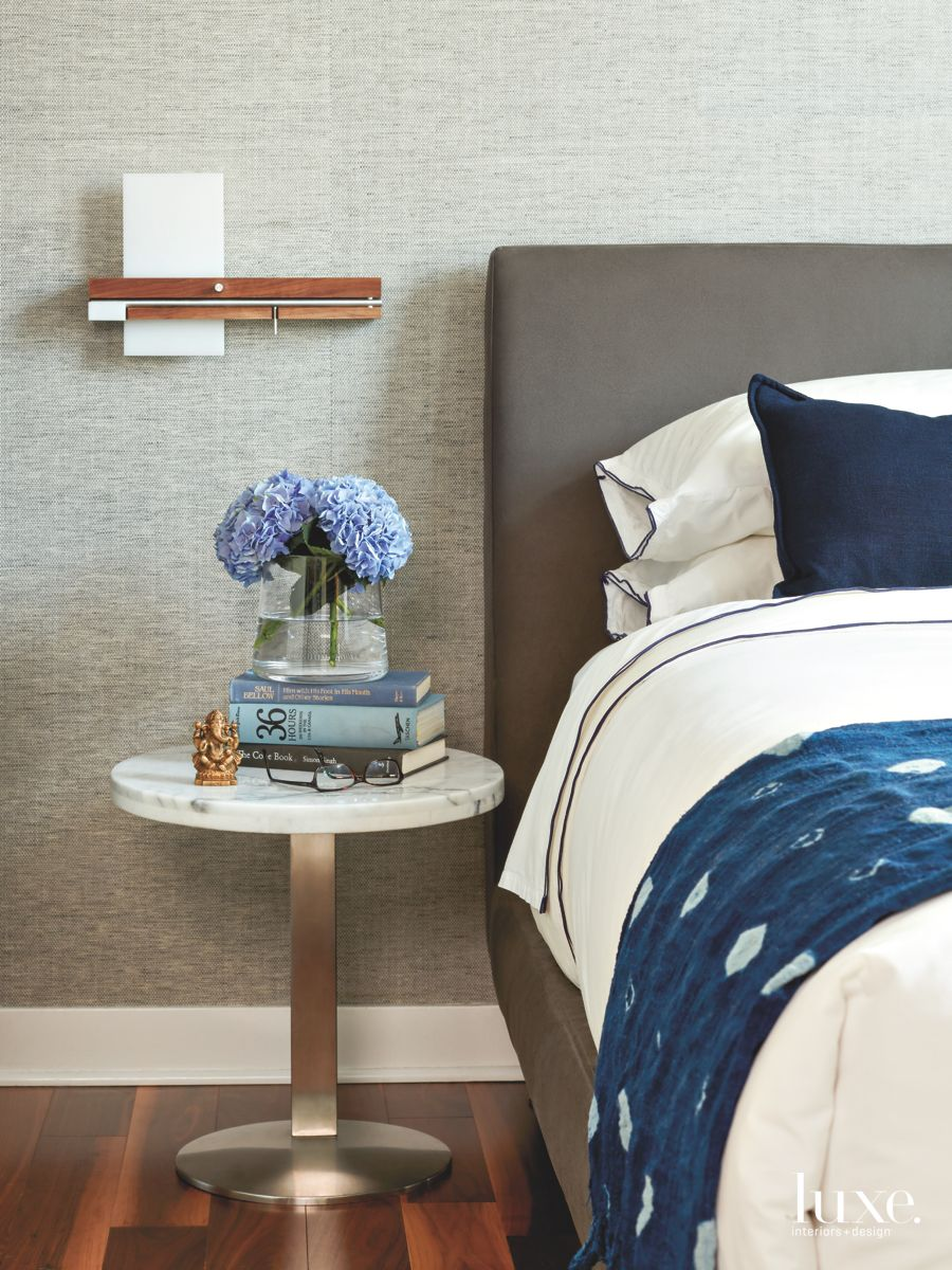Detail of Gray Variations Master Bedroom