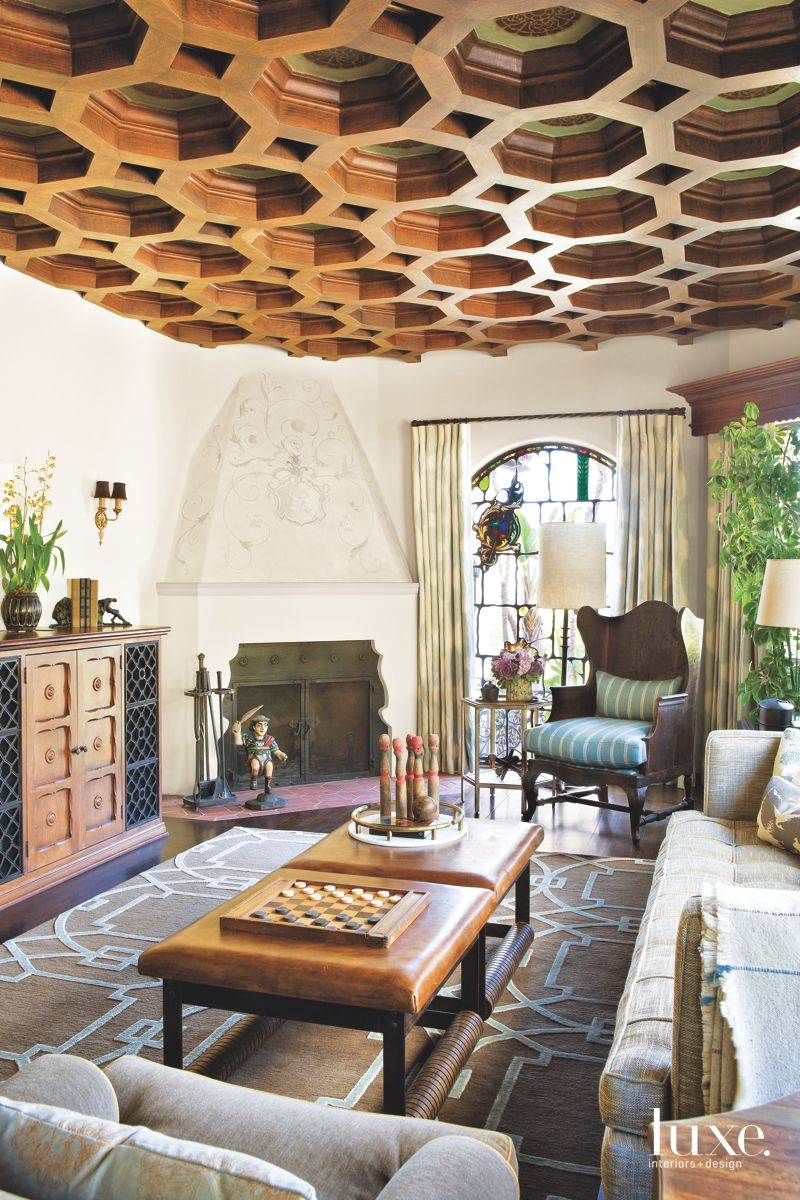 Honeycomb-Coffered Ceiling