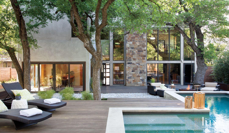 Modern Rear Exterior Pool Deck