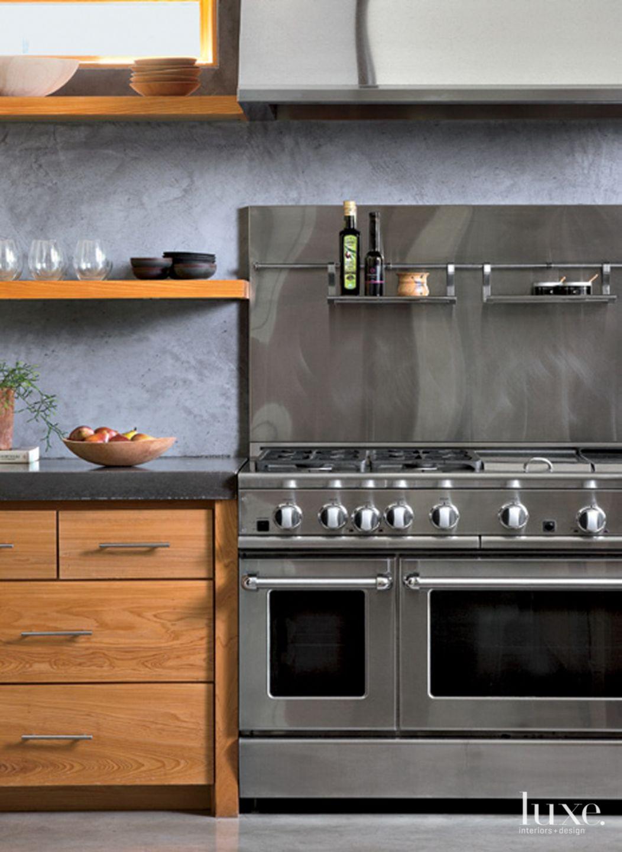 Modern Douglas Fir Kitchen Shelves
