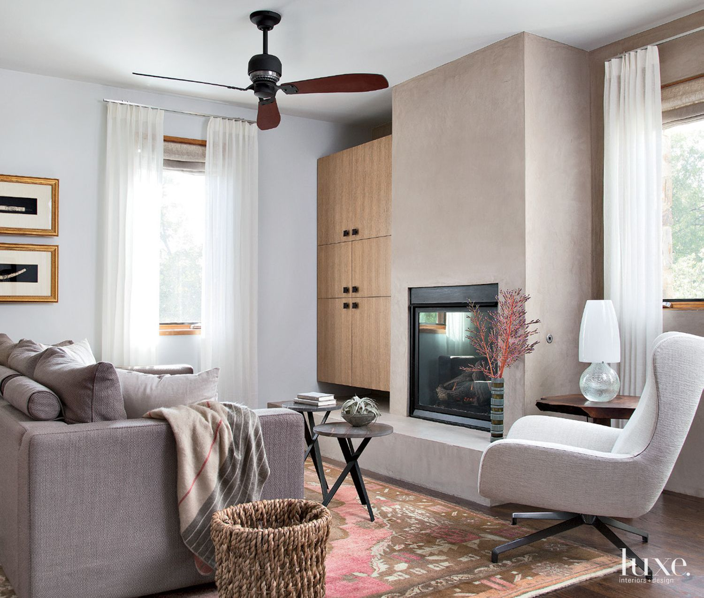 Modern White Master Suite Lounge