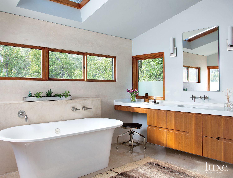 Modern Cream Spa-Like Master Bath