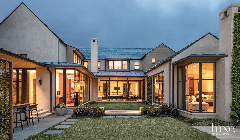 Modern Courtyard-Style Home Exterior