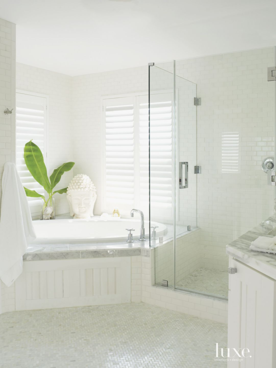 Contemporary All-White Master Bath