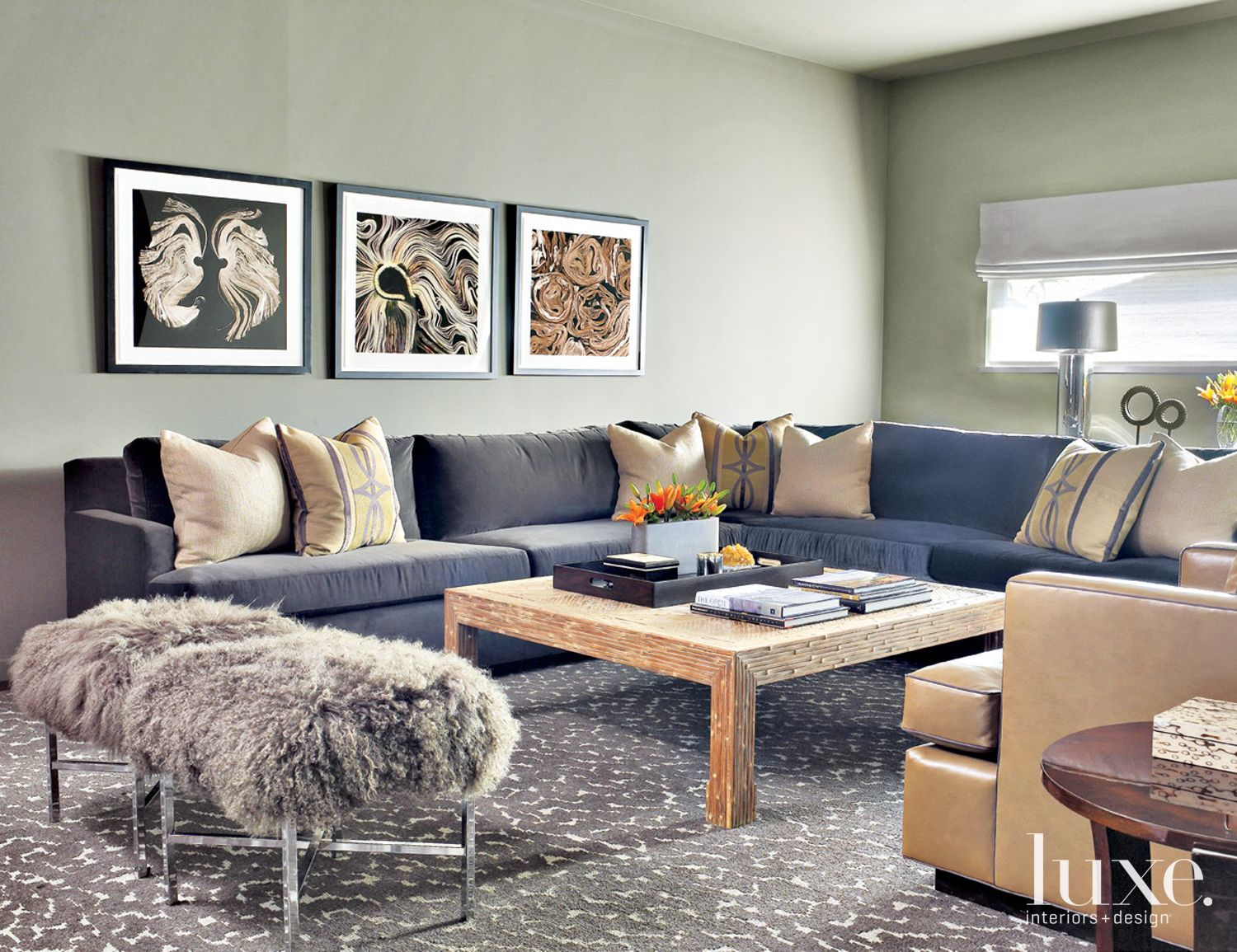 Neutral Modern Media Room