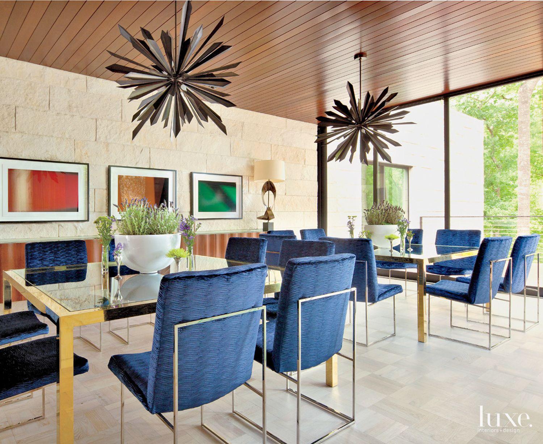 Modern Limestone Great Room