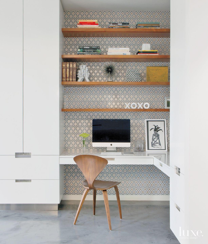 Modern White Kitchen Study