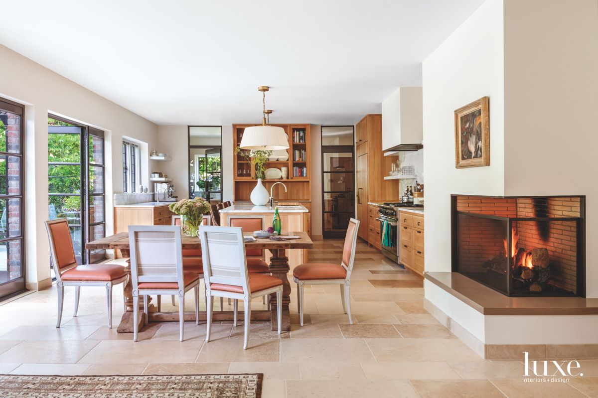 Portland Home with a Kitchen Fireplace