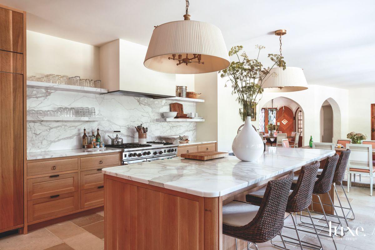 Kitchen with Pendant Lighting