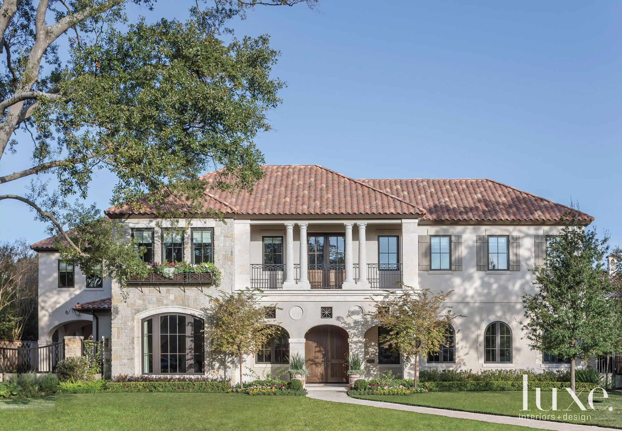 Florentine Style Home With Clay Tile Roof