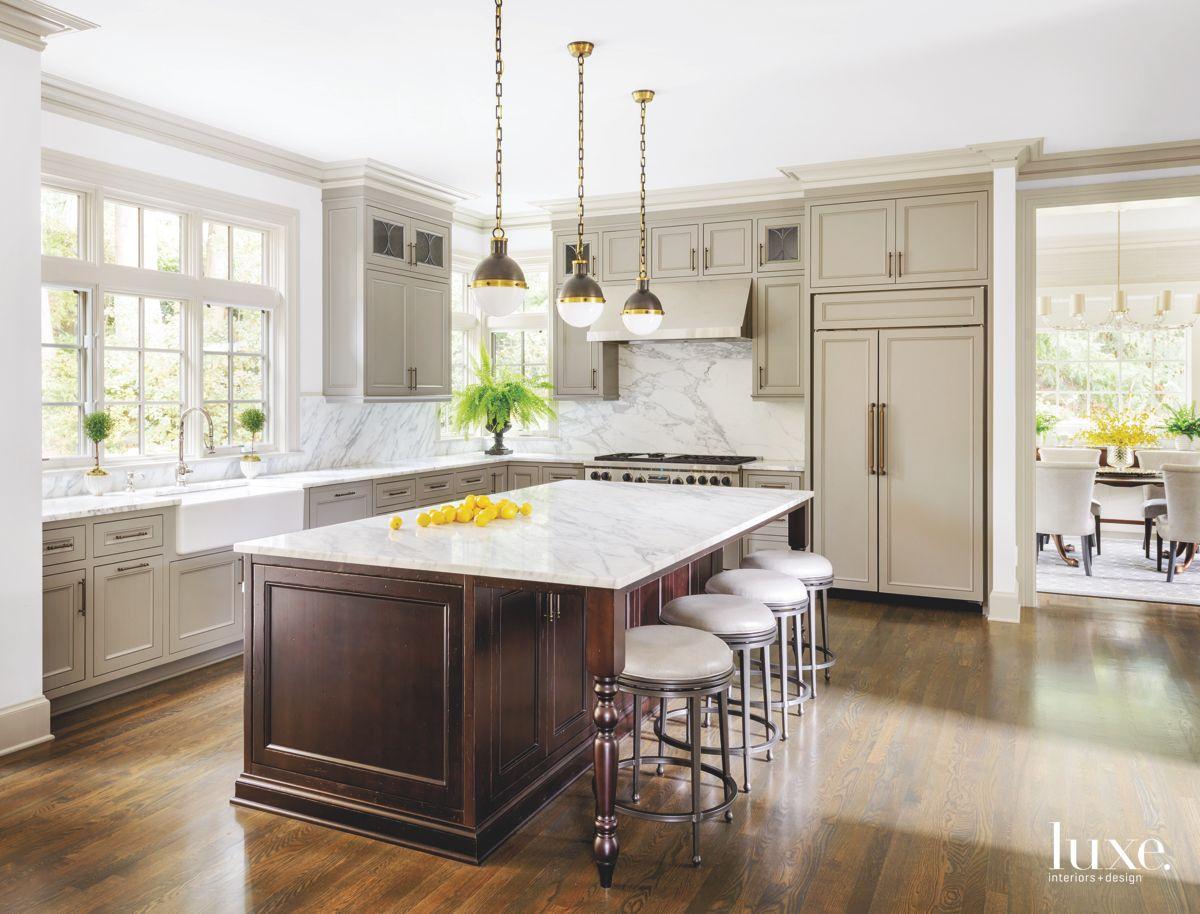 Open Neutral Gray Kitchen