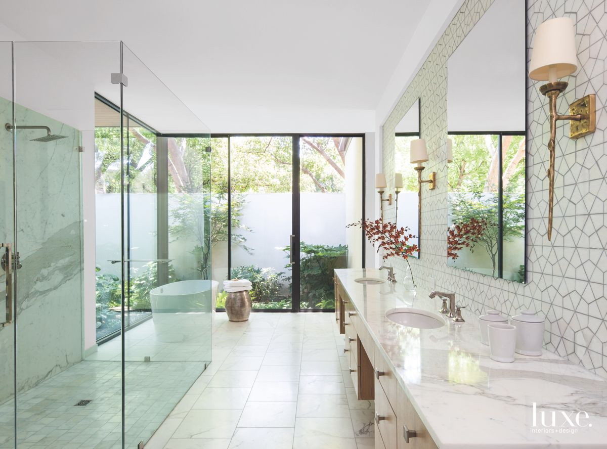 A Bathroom with Floor to Ceiling Glass Windows