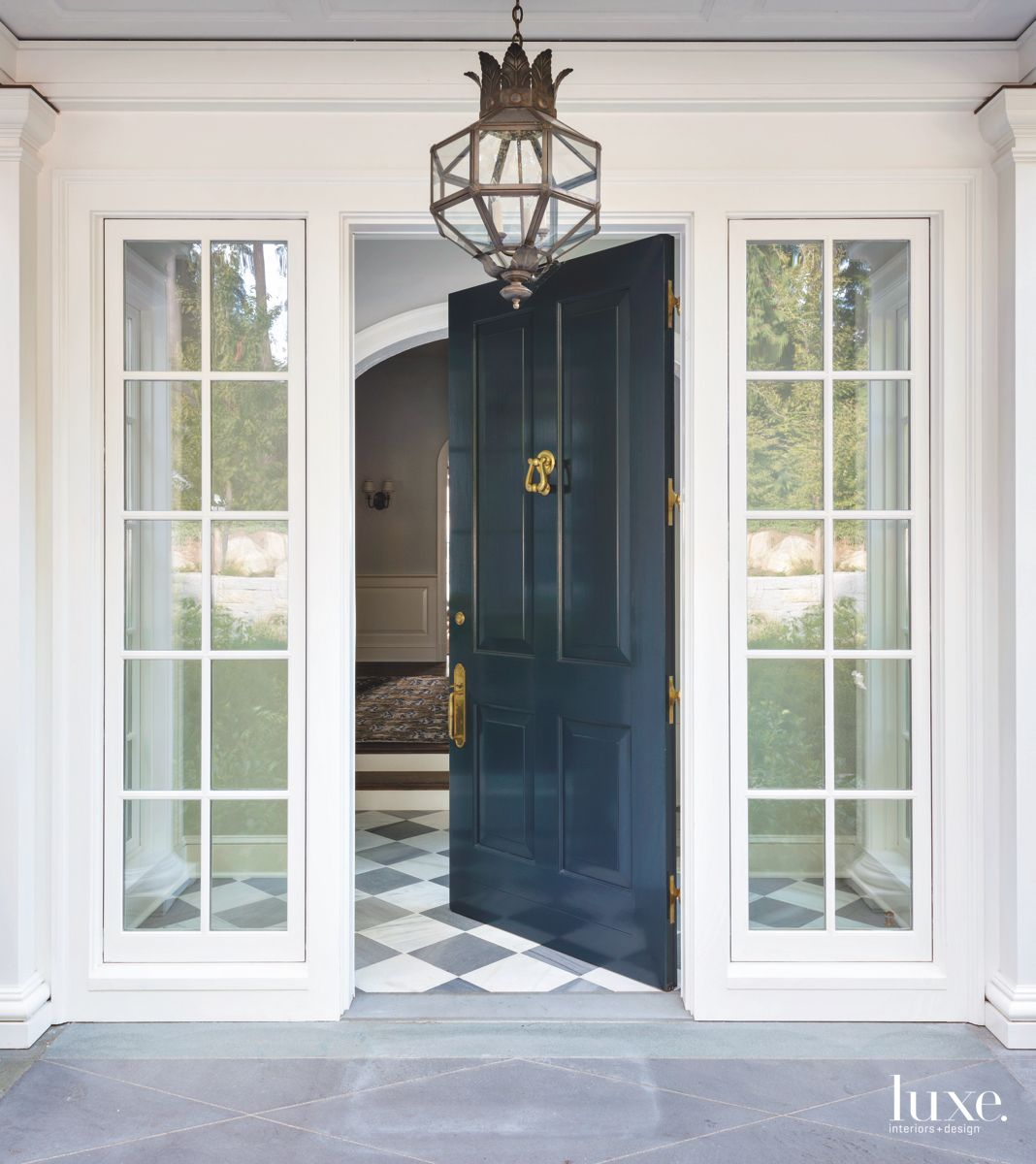 Dark Blue Entrance door to a Seattle Home