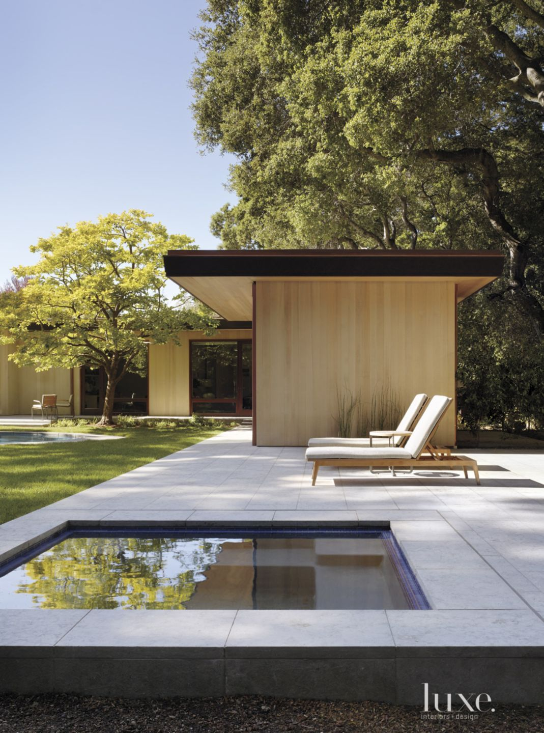 Modern Pavilion with Chaise Lounges