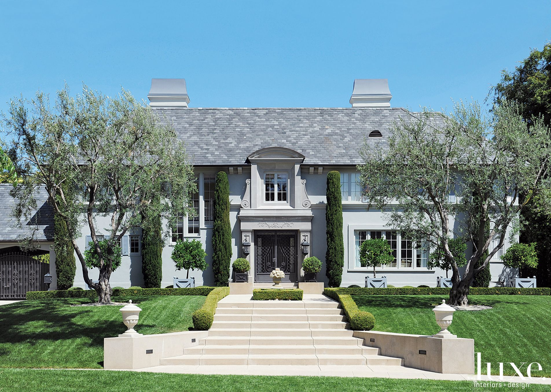 Traditional Gray Exterior with European Silhouette