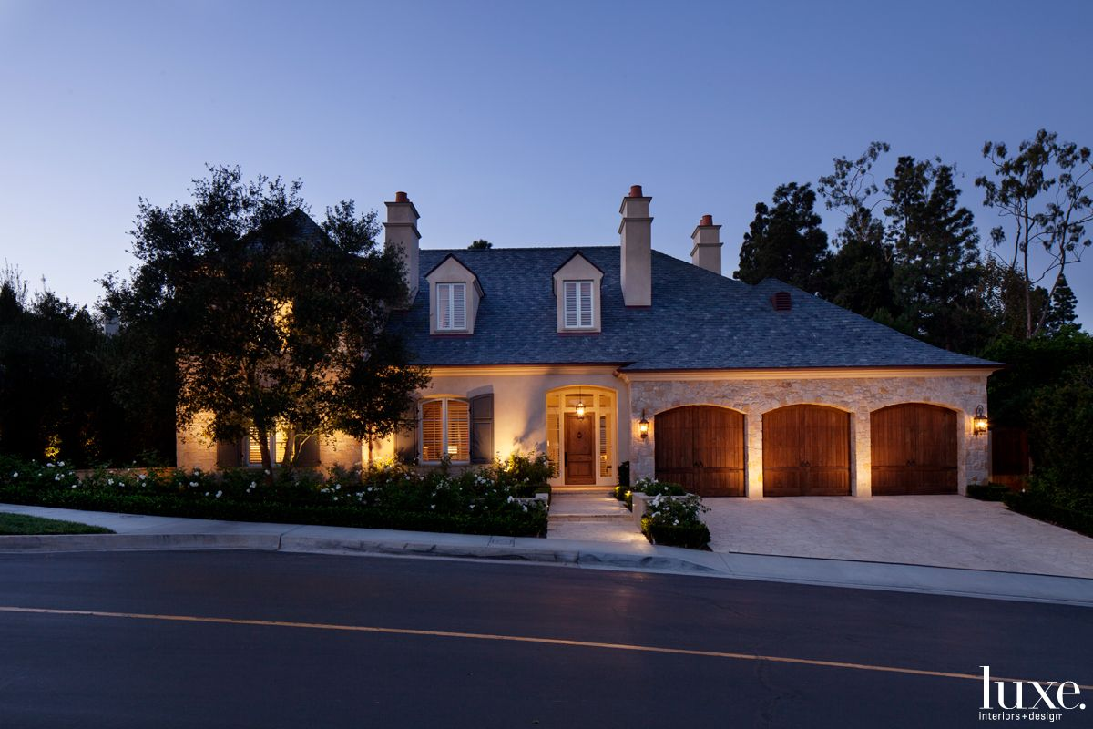Country Neutral Front Elevation with Tumbled Limestone Cladding